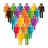 A comunidade e social ilustração stock