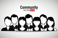 A comunidade e social ilustração royalty free