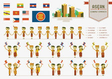 A comunidade econômica do ASEAN Fotos de Stock
