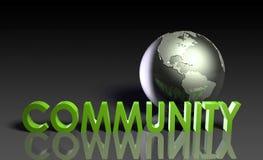 A comunidade global ilustração stock