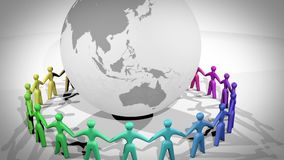 A comunidade global ilustração do vetor