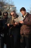 A comunidade judaica está abençoando o Sun em Odessa Fotografia de Stock Royalty Free