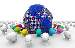 A comunidade, meio social, rede social ilustração stock