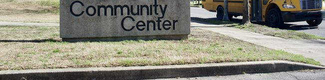 A comunidade, recreação e centro social foto de stock royalty free
