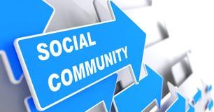 A comunidade social. Fotos de Stock