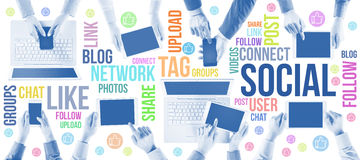A comunidade social da rede fotos de stock