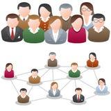 A comunidade social da rede dos media ilustração do vetor