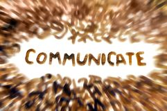 Comunique Imagen de archivo libre de regalías