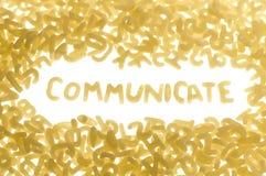 Comunique Foto de archivo libre de regalías