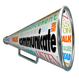 Comunique el megáfono del megáfono separan la palabra libre illustration