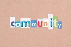 Comunità fotografie stock libere da diritti