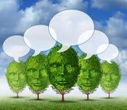 Comunità crescente di comunicazione illustrazione di stock