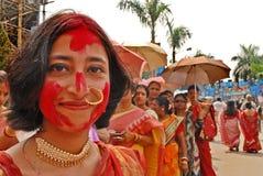 Comunità del bengalese a Durga Festival Immagini Stock