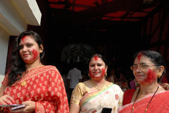 Comunità del bengalese in Kolkata Fotografie Stock Libere da Diritti