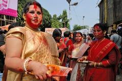 Comunità del bengalese in Kolkata Immagini Stock