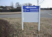 Comunità 55 di pensionamento e più vecchio Immagine Stock Libera da Diritti