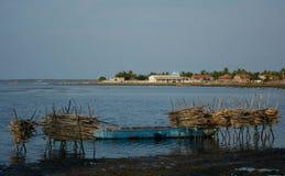 Comunità di pesca del villaggio fotografie stock libere da diritti