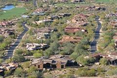 Comunità di terreno da golf di Scottsdale Fotografia Stock Libera da Diritti