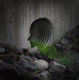 Comunità inquinante Fotografie Stock Libere da Diritti