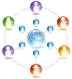 Comunità in linea Fotografia Stock