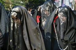 Comunità mondiale di sciita di Ashura Costantinopoli dei segni dei musulmani Fotografie Stock