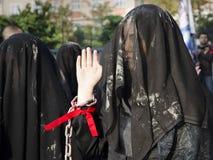 Comunità mondiale di sciita di Ashura Costantinopoli dei segni dei musulmani Immagine Stock