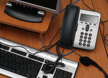 comupter数字式电话 免版税库存图片