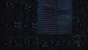 Comupter Hightech в лаборатории видеоматериал