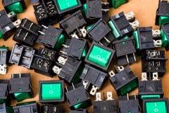 Comutação para o conjunto e a instalação na engenharia elétrica imagens de stock royalty free