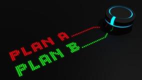 Comute a Blan B ilustração stock