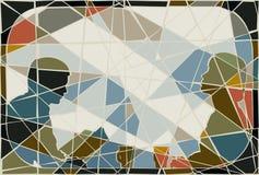 Comute o mosaico ilustração royalty free