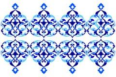Conçu avec des nuances de versio bleu de la série trois de modèle de tabouret Image libre de droits