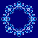 Conçu avec des nuances des séries bleues treize de modèle de tabouret illustration stock