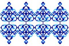 Conçu avec des nuances des séries bleues trois de modèle de tabouret illustration libre de droits