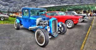 1931 a conçu le camion en fonction du client de collecte bleu Image libre de droits