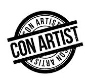 Con Artist rubber stamp Stock Image