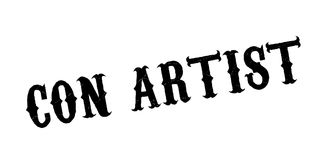 Con Artist rubber stamp Royalty Free Stock Photo