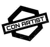 Con Artist rubber stamp Stock Photos