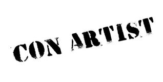 Con Artist rubber stamp Stock Photography