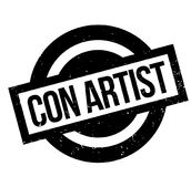 Con Artist rubber stamp Stock Photo