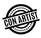 Con Artist rubber stamp Royalty Free Stock Photography
