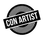 Con Artist rubber stamp Stock Images
