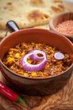 Μεξικάνικα τσίλι con Carne με τις κόκκινες φακές Στοκ φωτογραφία με δικαίωμα ελεύθερης χρήσης