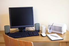 Con computer personale Fotografie Stock