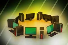 Con computer personale Fotografia Stock