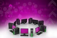 Con computer personale Immagine Stock Libera da Diritti