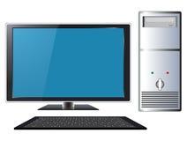 Con computer personale moderno Fotografie Stock Libere da Diritti