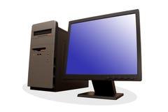 Con computer personale moderno Fotografia Stock Libera da Diritti