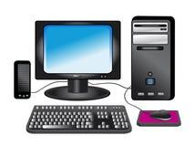 Con computer personale - tavolo Immagine Stock