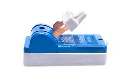 CON./DESC. eléctrico del interruptor aislada Imagen de archivo libre de regalías